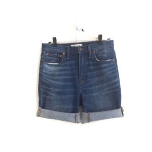 Madewell Shorts - Madewell High-Rise Slim BoyJean Cut-Off Shorts